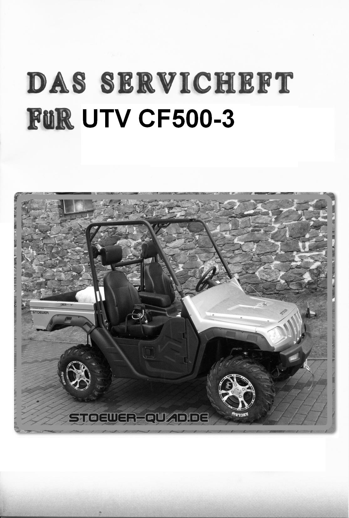 Service plan for CF Moto 500 UTV, Side by Side